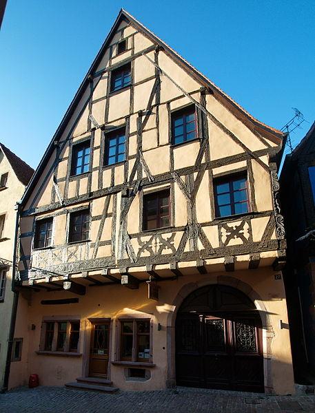 Photo du Monument Historique Maison à l'Ours noir situé à Riquewihr