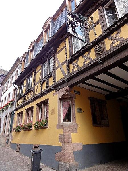 Photo du Monument Historique Maison dite à l'Etoile situé à Riquewihr