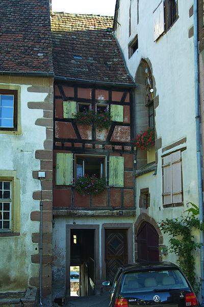 Photo du Monument Historique Ancienne maison de la Sage-Femme situé à Riquewihr