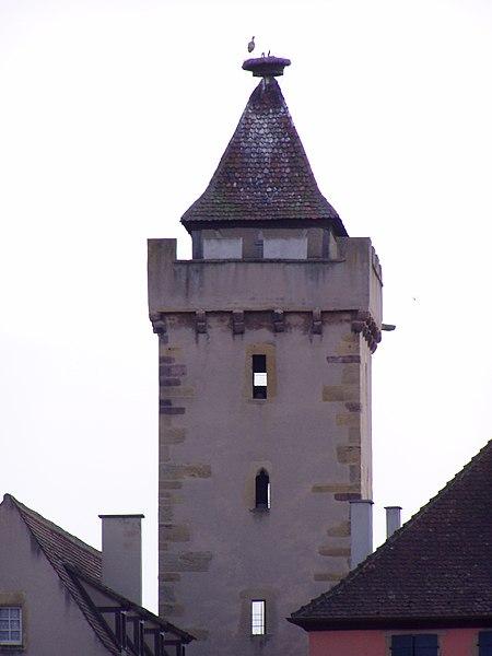 Photo du Monument Historique Tour des Sorcières situé à Rouffach