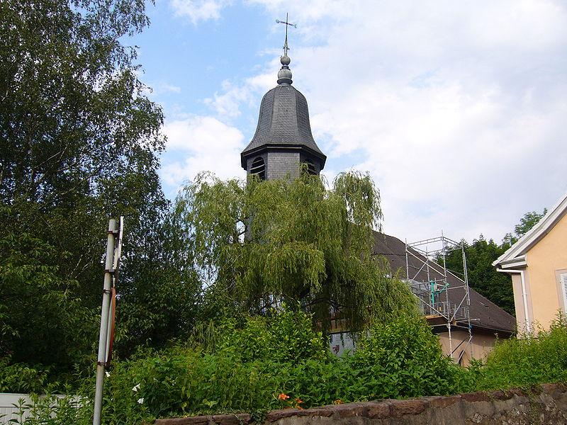 Photo du Monument Historique Temple réformé situé à Sainte-Marie-aux-Mines