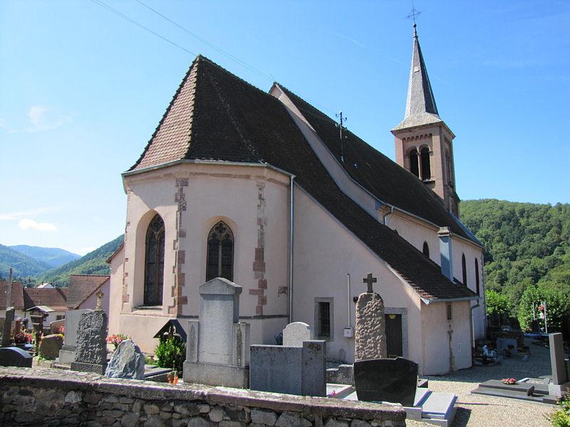 Photo du Monument Historique Eglise catholique Saint-Jean-Baptiste situé à Soultzbach-les-Bains