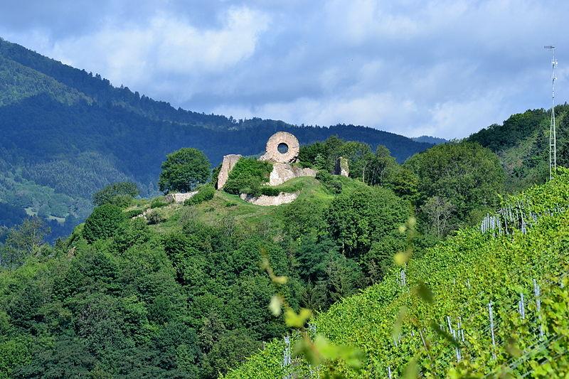Photo du Monument Historique Ruines du château d'Engelbourg situé à Thann