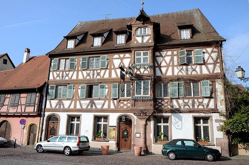 Photo du Monument Historique Hôtel des Deux-Clefs situé à Turckheim
