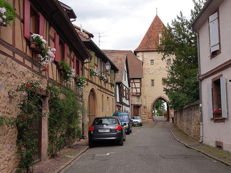 Photo du Monument Historique Porte de Brand dite Mocheltor ou Oeltor situé à Turckheim
