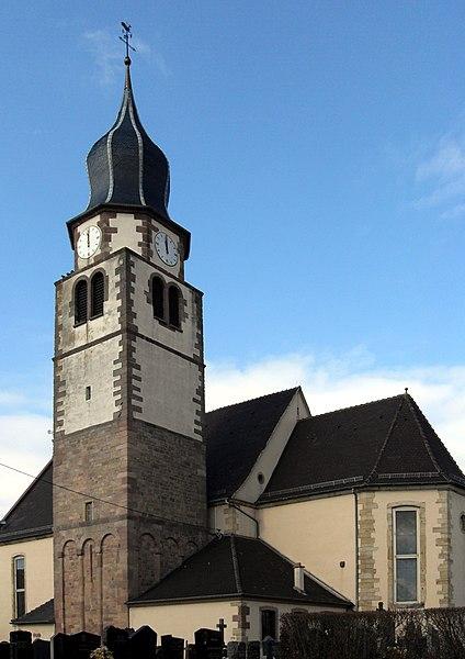 Photo du Monument Historique Eglise catholique Saint-Michel situé à Ungersheim