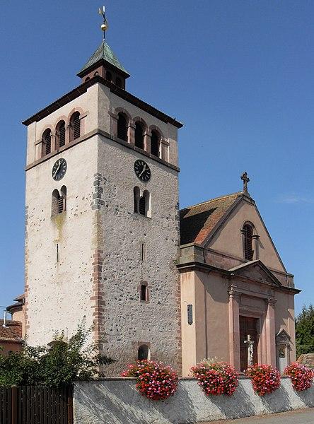 Photo du Monument Historique Eglise catholique Saint-Georges situé à Urschenheim