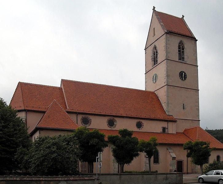 Photo du Monument Historique Eglise catholique Saint-Jean-Baptiste situé à Wattwiller