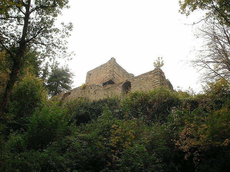 Photo du Monument Historique Ruines du château de Hagueneck situé à Wettolsheim
