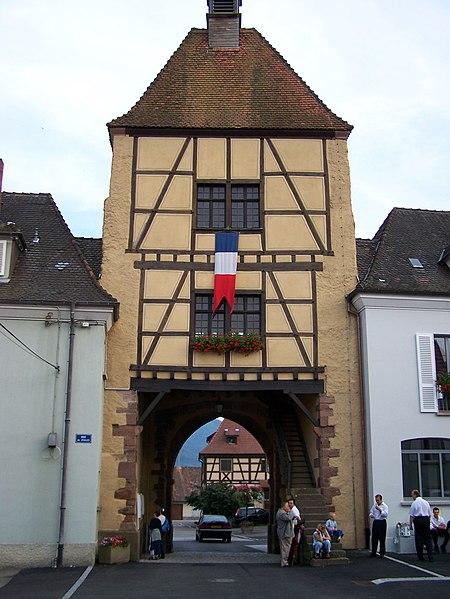Photo du Monument Historique Ancienne porte de Ville situé à Wihr-au-Val