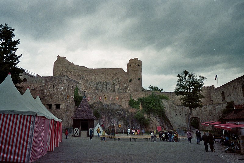 Photo du Monument Historique Château de Hohlandsberg ou Hohlandsbourg situé à Wintzenheim