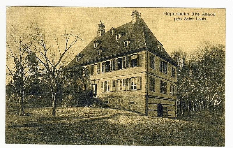 Photo du Monument Historique Manoir dit Château de Hegenheim situé à Hégenheim
