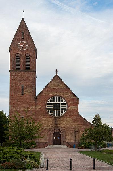 Photo du Monument Historique Eglise catholique Sainte-Barbe situé à Wittenheim