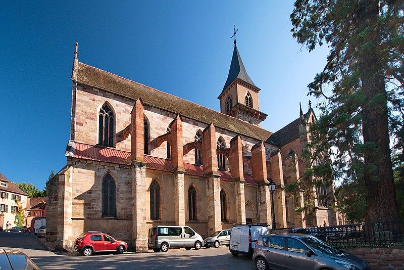 Photo du Monument Historique Eglise catholique Saint-Grégoire situé à Ribeauvillé