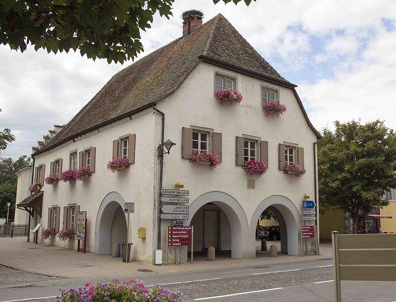 Photo du Monument Historique Bâtiment dit Dorfhus situé à Habsheim
