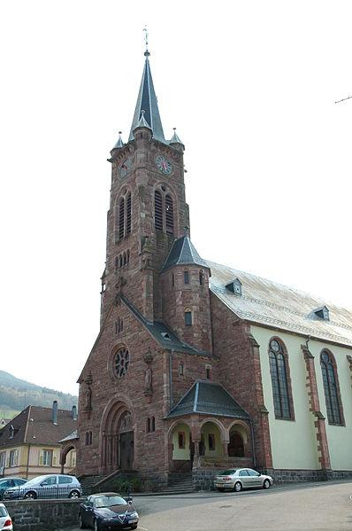 Photo du Monument Historique Eglise catholique Sainte-Odile situé à Lapoutroie