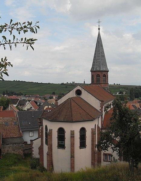 Photo du Monument Historique Eglise catholique Saint-Benoit situé à Bergholtzzell