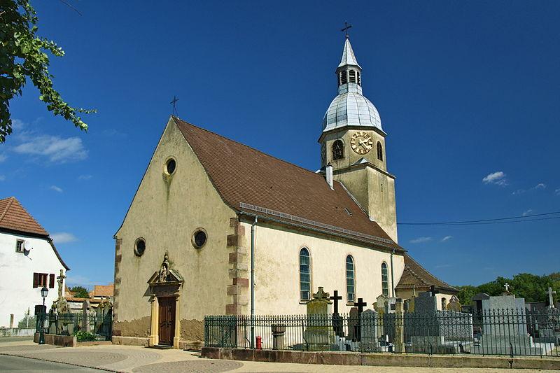 Photo du Monument Historique Eglise catholique Sainte-Agathe situé à Niederentzen