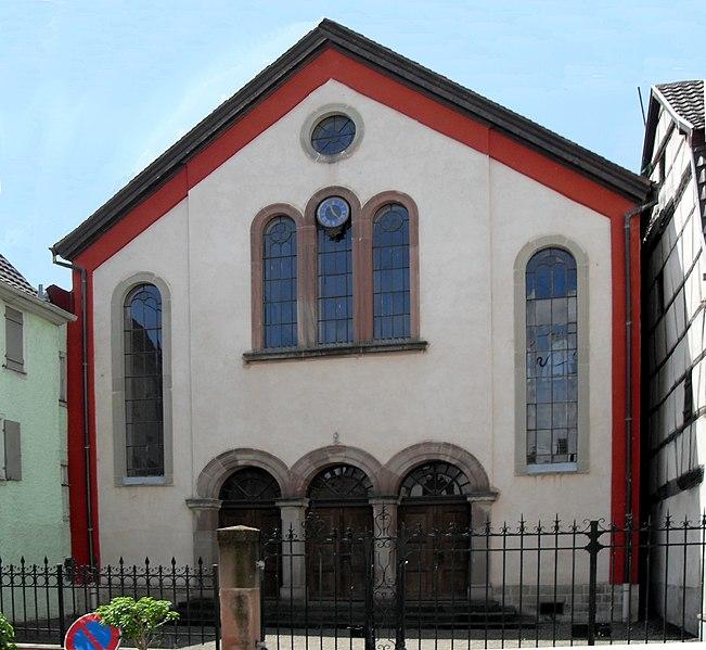 Photo du Monument Historique Synagogue situé à Wintzenheim