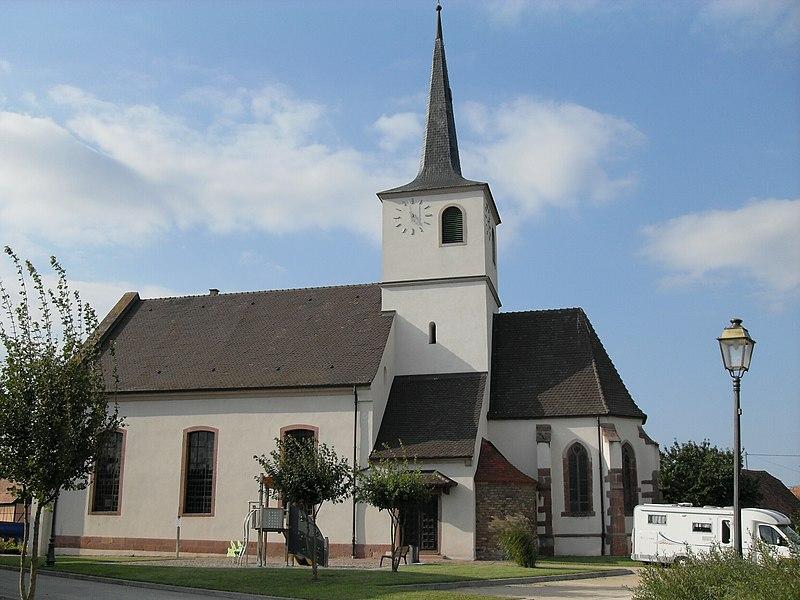 Photo du Monument Historique Eglise protestante Saint-Martin situé à Jebsheim