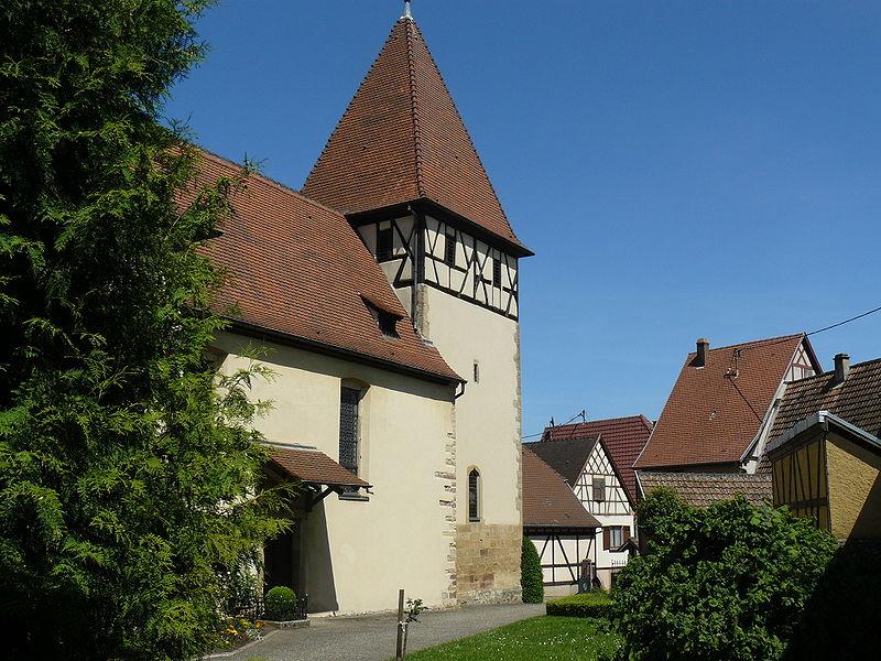 Photo du Monument Historique Eglise catholique Saints-Philippe-et-Jacques situé à Obermorschwihr