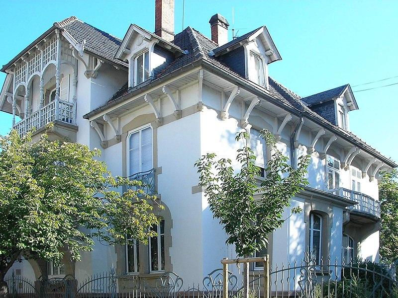Photo du Monument Historique Maison dite Villa Boeschlin situé à Colmar