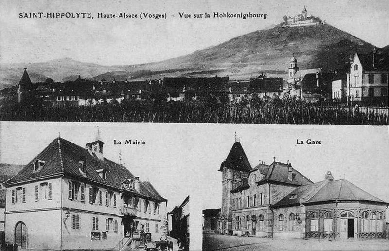 Photo du Monument Historique Gare ferroviaire dite gare du Kaiser situé à Saint-Hippolyte