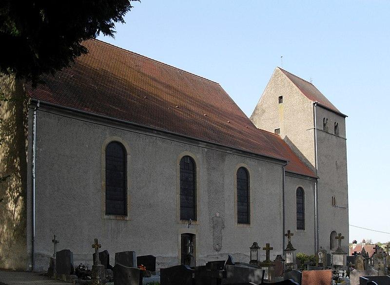 Photo du Monument Historique Eglise catholique Saint-Sébastien situé à Obermorschwiller