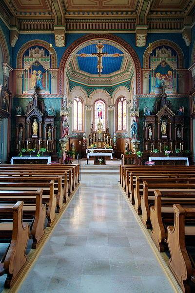 Photo du Monument Historique Eglise catholique Sainte-Lucie situé à Niederhergheim