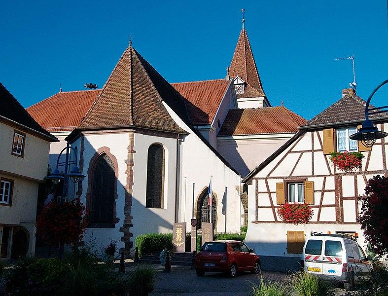 Photo du Monument Historique Eglise catholique Saint-Michel situé à Herrlisheim-près-Colmar