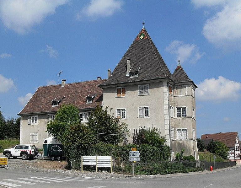 Photo du Monument Historique Ancien château de la famille d'Eplingen situé à Hagenthal-le-Bas