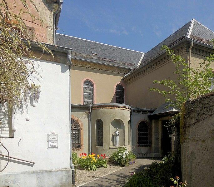 Photo du Monument Historique Chapelle Sainte-Anne du prieuré Saint-Bernard situé à Ottmarsheim