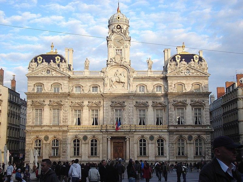 Photo du Monument Historique Hôtel de ville situé à Lyon