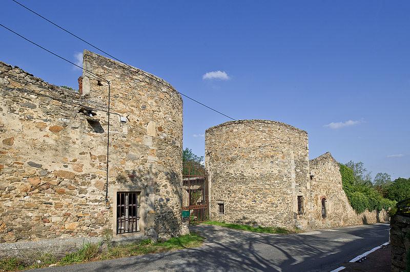 Photo du Monument Historique Château Le Clos Bourbon situé à Saint-Laurent-d'Agny