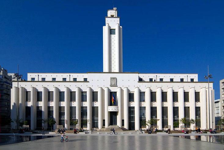 Photo du Monument Historique Hôtel de ville situé à Villeurbanne