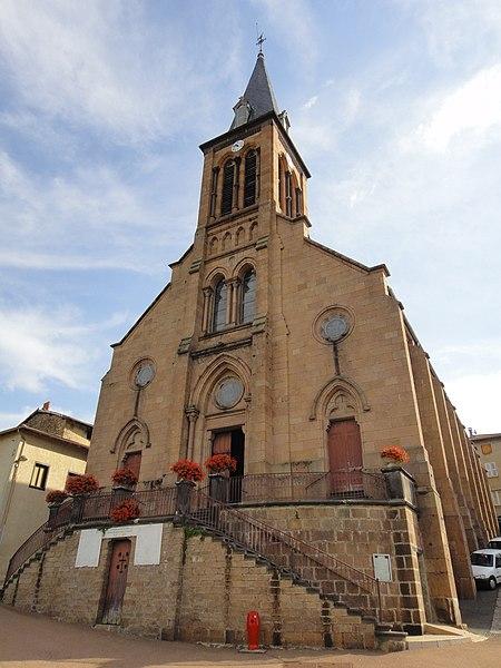 Photo du Monument Historique Eglise, située au bourg situé à Valsonne