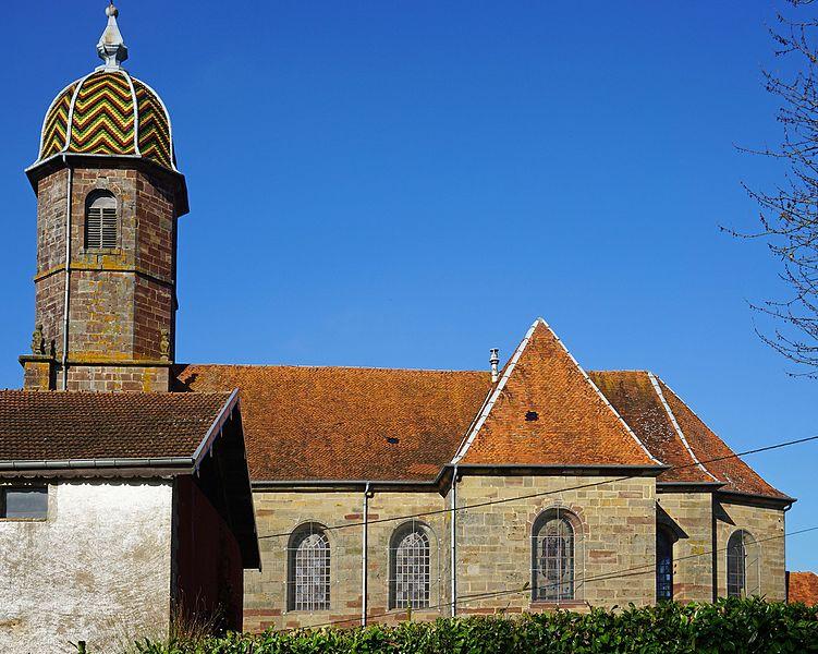 Photo du Monument Historique Eglise situé à Equevilley