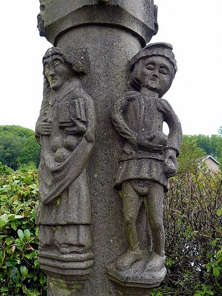 Photo du Monument Historique Croix de calvaire au hameau de Blanzey-Haut situé à Fougerolles