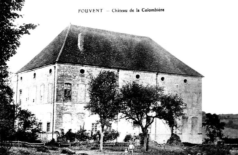 Photo du Monument Historique Château de la Colombière, à Fouvent-le-Haut situé à Fouvent-Saint-Andoche