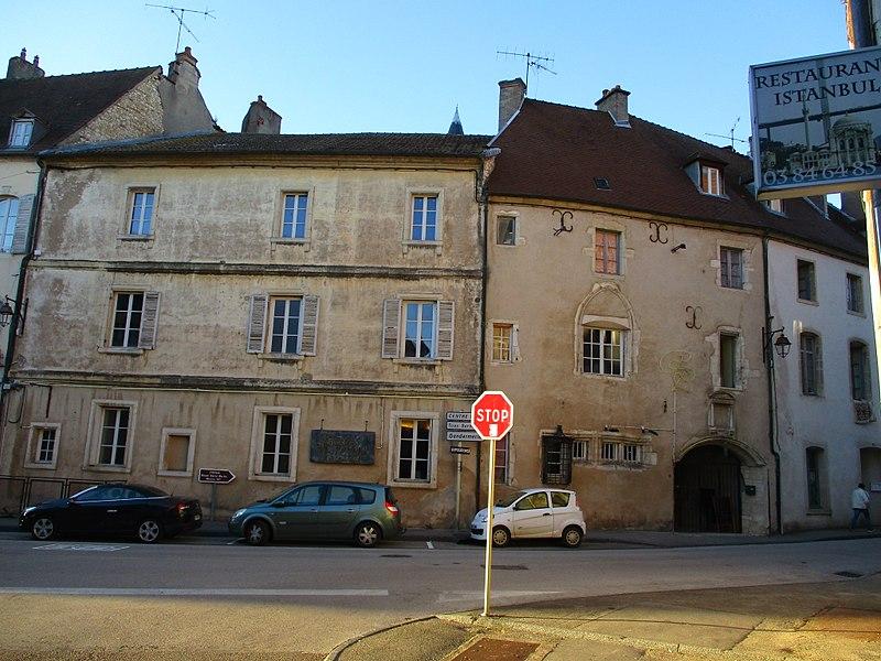 Photo du Monument Historique Hôtel Gauthiot d'Ancier situé à Gray