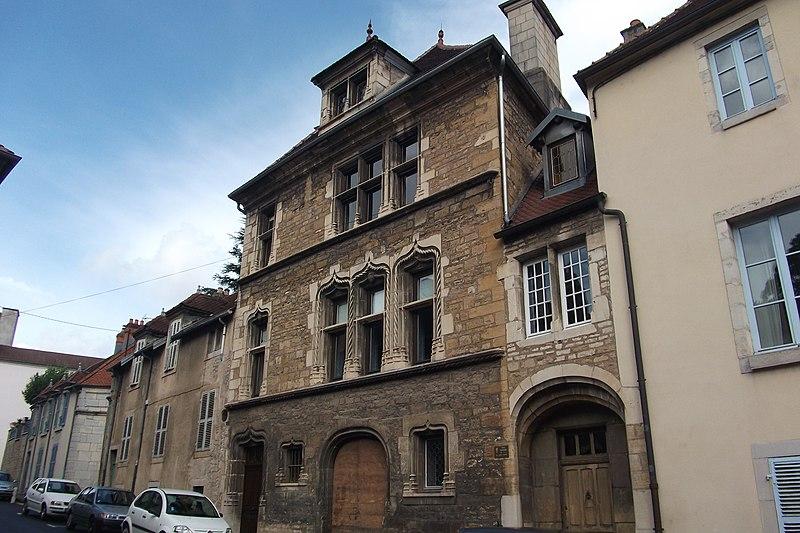 Photo du Monument Historique Maison du 15e siècle, dite Hôtel Thomassin situé à Vesoul