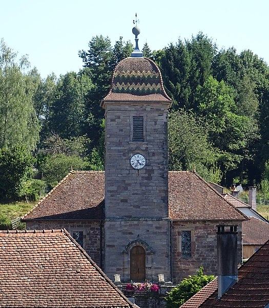 Photo du Monument Historique Temple luthérien situé à Clairegoutte