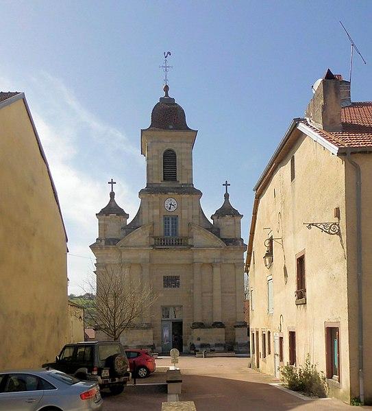 Photo du Monument Historique Eglise de la Nativité de Notre-Dame de Vauvillers situé à Vauvillers