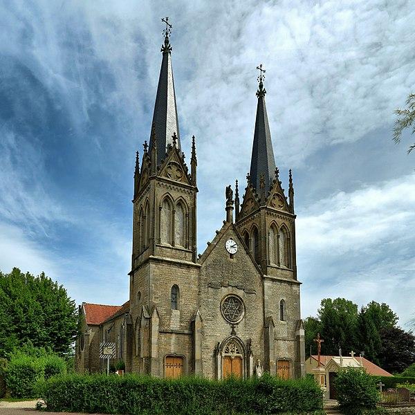 Photo du Monument Historique Eglise de la Sainte-Trinité situé à Bonnevent-Velloreille