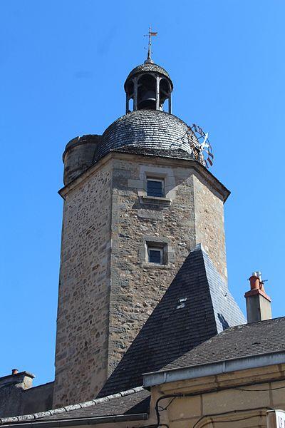Photo du Monument Historique Tour de l'Horloge, dite aussi tour de Marchaux situé à Autun