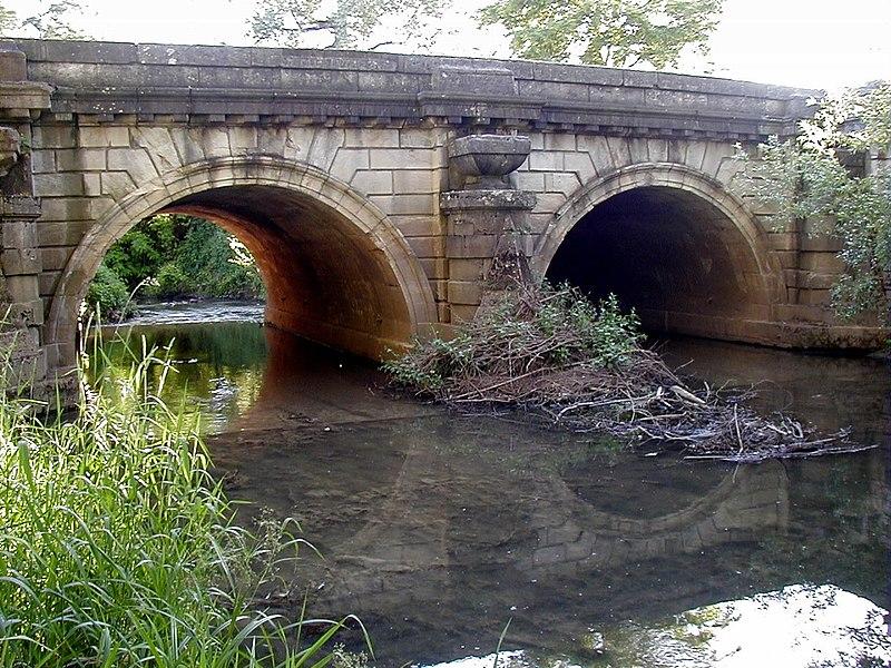Photo du Monument Historique Pont de la Thalie au hameau de Corcelles situé à Châtenoy-le-Royal