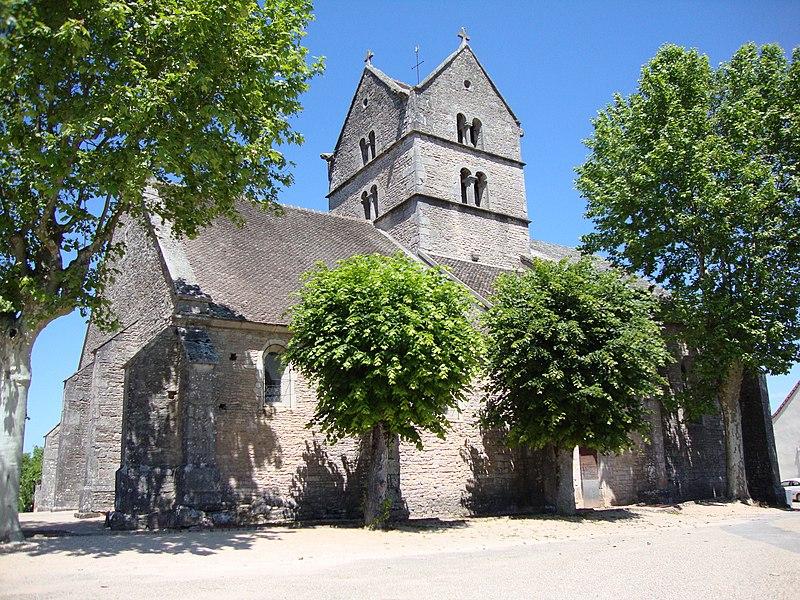 Photo du Monument Historique Eglise de Touches situé à Mercurey