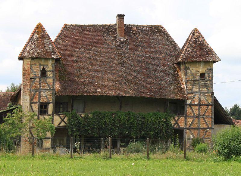 Photo du Monument Historique Manoir-ferme bressan situé à Sagy