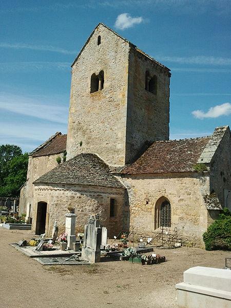 Photo du Monument Historique Cimetière situé à Saint-Bérain-sur-Dheune