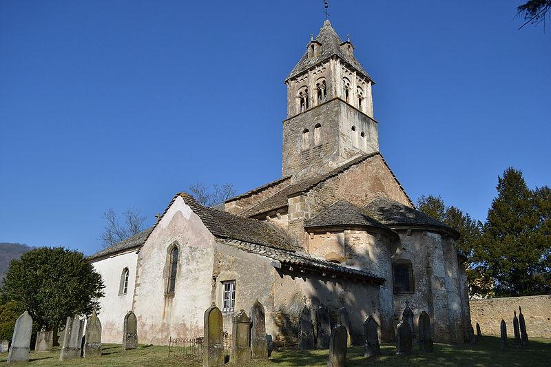 Photo du Monument Historique Eglise et tombeau de Lamartine situé à Saint-Point